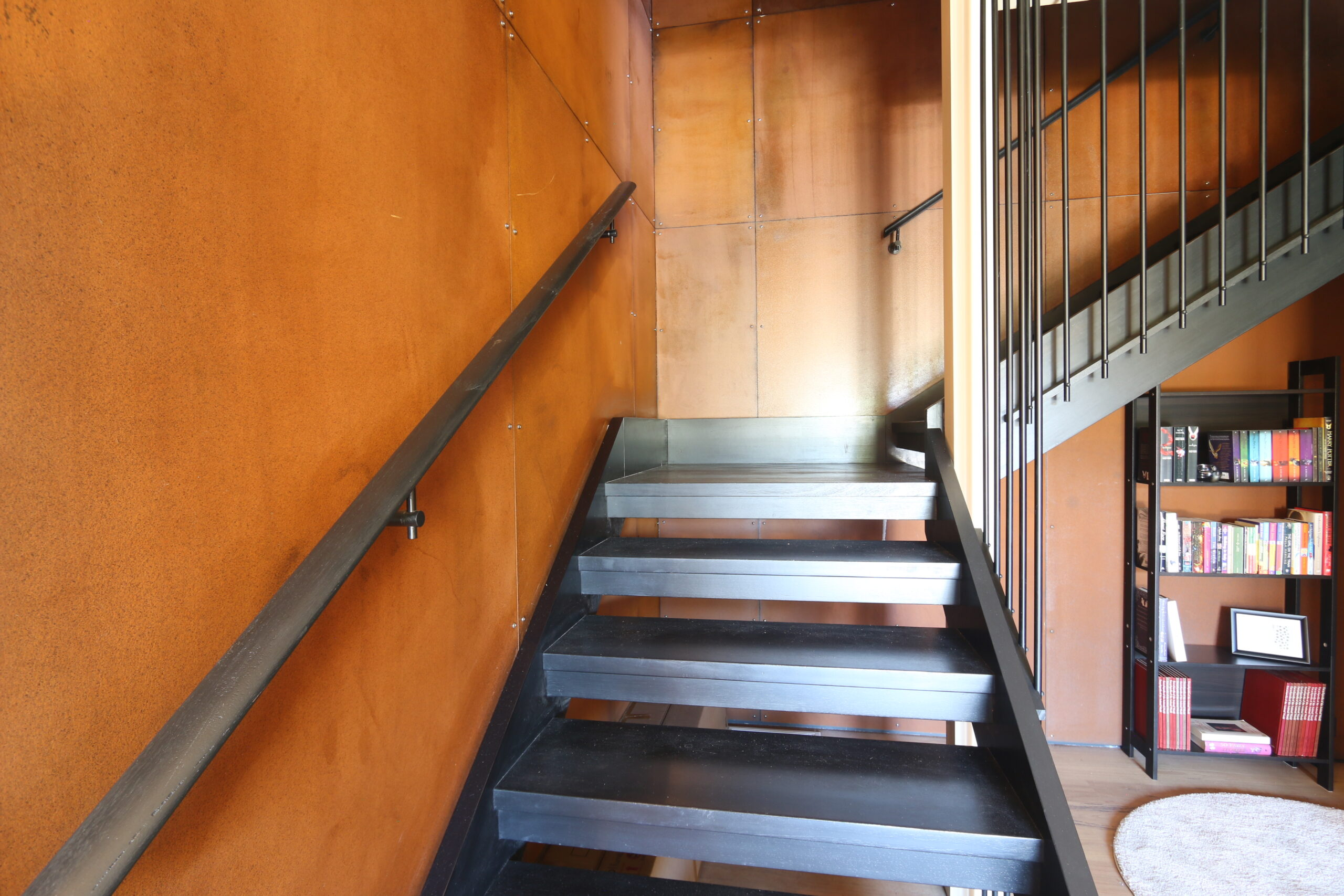 Safety beach holiday rental, staircase with corten detail. Prescott perfection