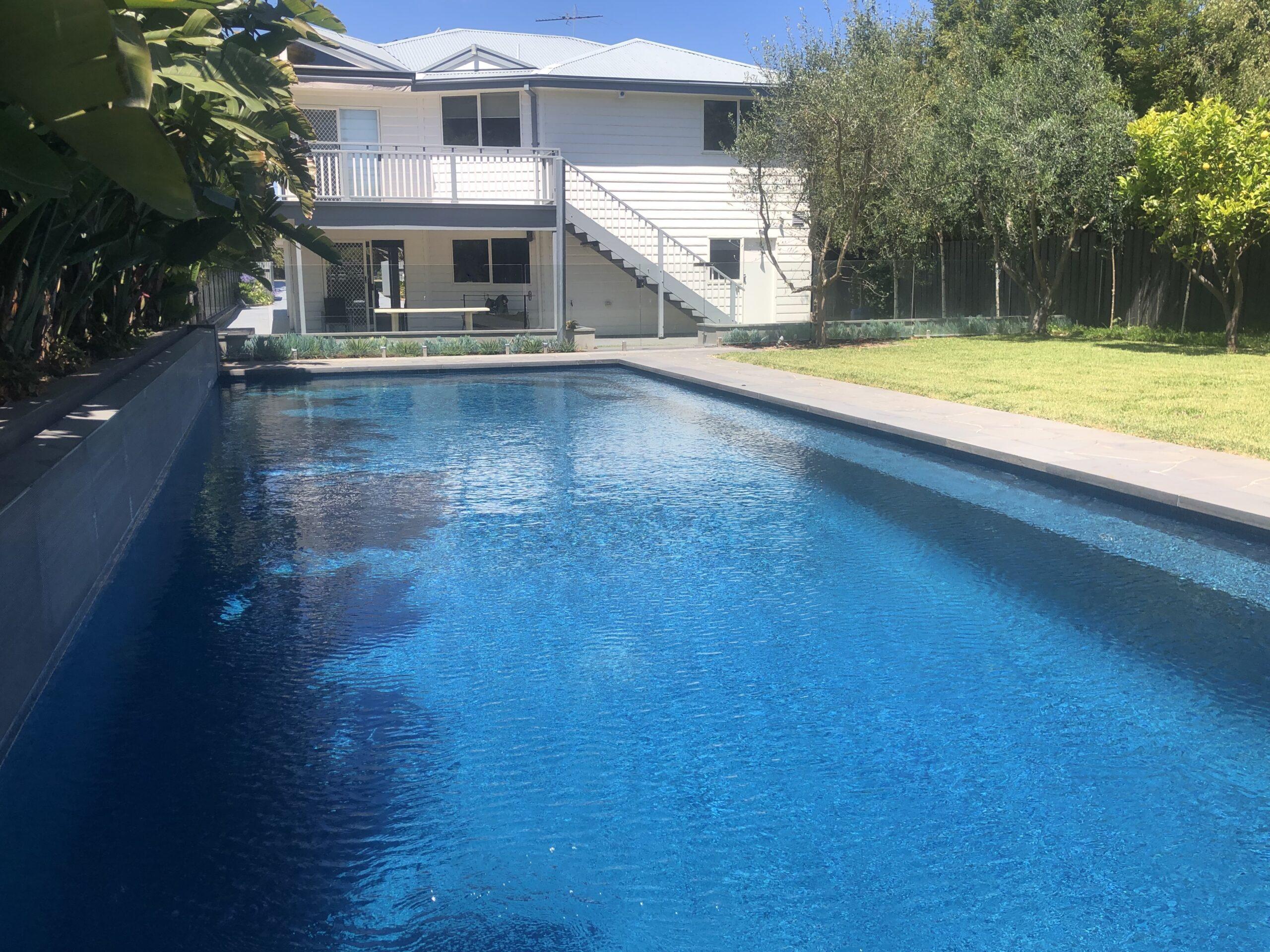 Timbertop pool. Blairgowrie holiday rental