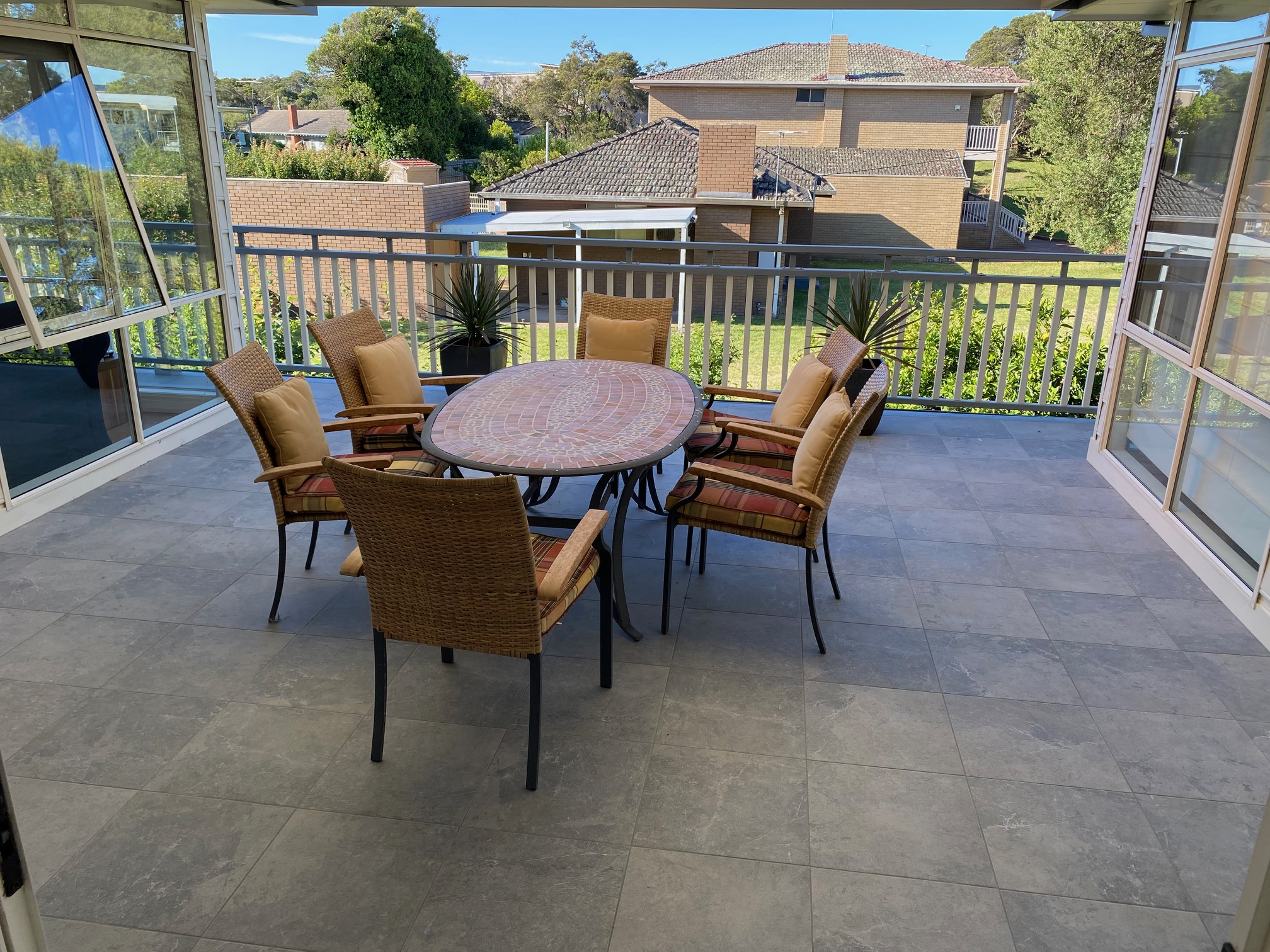 Upstairs terrace. blairgowrie holiday rental